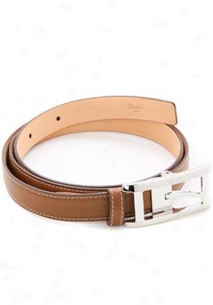 Cartier Mini Tank Brwon Cowhide Leather Belt L5000475