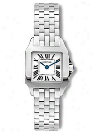 Cartier Santos Demoiselle Women's Stainless Steel White Dial W25064z5
