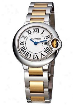 Cartier Women's Ballon Bleu De Cartiertwo Tone Silver Dial W69007z3