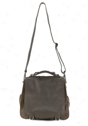 Cc Skye Grey Leather Messenger Cc-318-grey