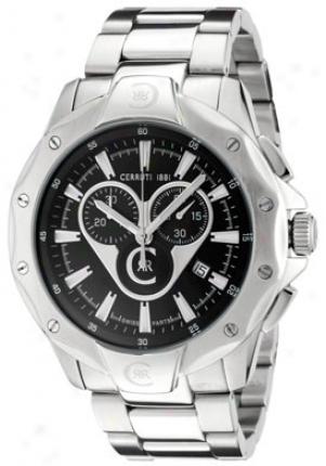 Cerruti I88i Men's Vivalto Chronograph Black Dial Stainlews Steel Cra026a211g
