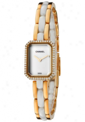 Chanel Women's Premiere White Rhombus 18k Solid Gold & White High-tech Ceramic H2435
