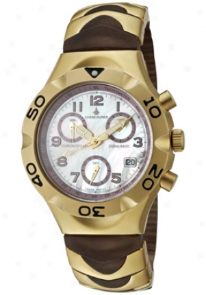 Chase Durer Women's Ladyhawke Chronograph Grape Transparent Rubber & Gold Tone Ip Stainless Steel Cd156/6om9m2