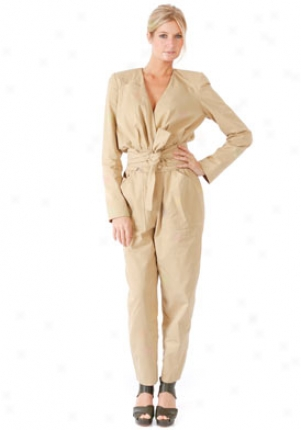 Chloe Beige Long Sleeve Jumpsuit On-19esl07-9e195-bg-40