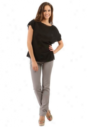 Chloe Black Short Sleeve Top Wtp-8eht70043-bk52