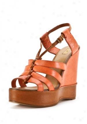 Chloe Coral Leather Wedges Ch16052-288-coral-39