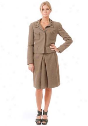 Chloe Grey Green Wool Jacket Ja-19hve039-h062-gr-38
