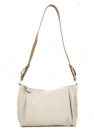 Chloe Light Grey Leather Crossbody Hajdbag 3s0615003001-pearl
