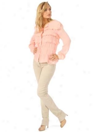 Chloe Pink Ruffled Silk Blouse Wtp-19ebl32-9e004-pk40