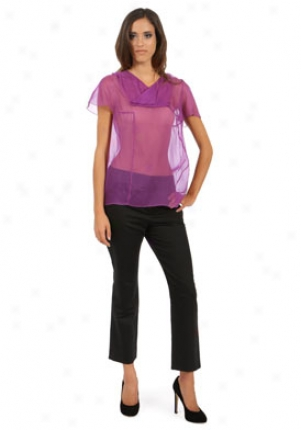Chloe Purple Silk Top Wtp-8eht55002-ir36