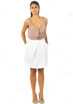 Chloe White A-lined Skirt Wbt-8sju428s036-wh40
