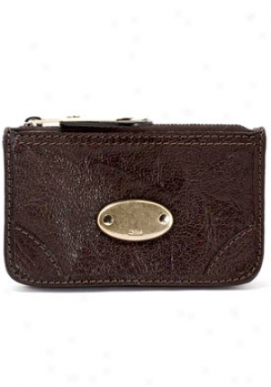 Chloe Women's Bay Chocolate Leather Coin Pouch Wallet 7ap11-28s778/196