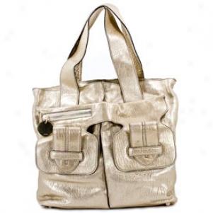 Chloe Women's Saskia Gold Colo Leather Totr 8es927-8s798/091
