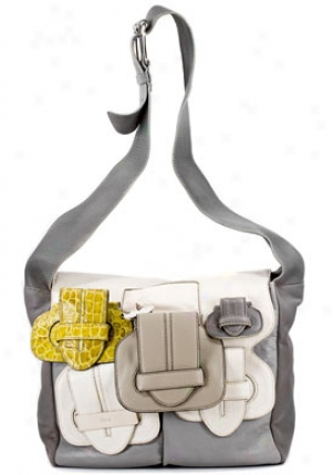 Chloe Women's Saskia Krakow/white Leather Shoulder Bag 8es415-8e8Z2/1802