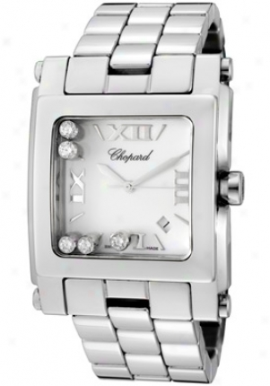 Chopard Wimen's Happy Sport (xl) White Diamond White Dial Stainless Steel 288467-3001