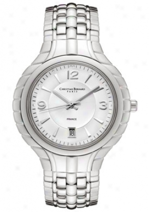 Christian Bernard Men's Silver Dial Stainless Steel Ma5368af