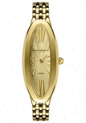 Christian Bernard Women's Fairy Llght Yellow Gold Tone Stainless Steel Nt2231fd