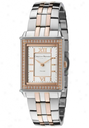 Christian Bernard Women's Highlight Cubic Zirconia Gentle Dial Sainless Steel & Rose Gold Tone Stainless Steel Nx518zad
