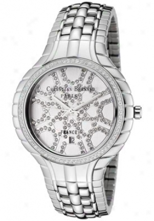 Christian Bernard Women's White Crystal Stainless Steel (l) Ma368zaa4
