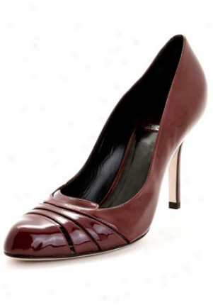 Christian Dior Dior Glam Dark Red Patent Leather Pumpd Vrn74867-dkrd-37.5