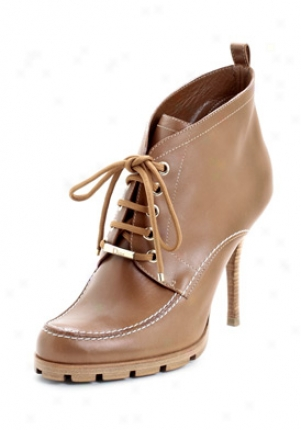 Christian Dior Polaire Light Brown Leather Booties Vea74796-ltbrn-41