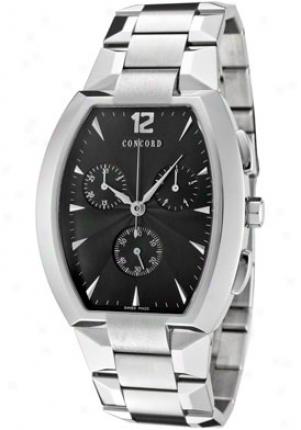 Convord Men'e La Scala Black Dial Stainless Steel 0311293