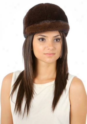 Contrariah Brown Faux Fur Hat Color-br-m
