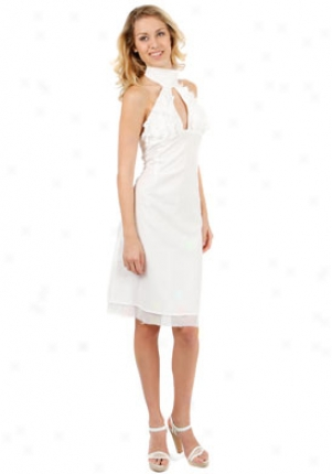 Cora De Adamich White Halter Dress Dr-05e16-wht-44