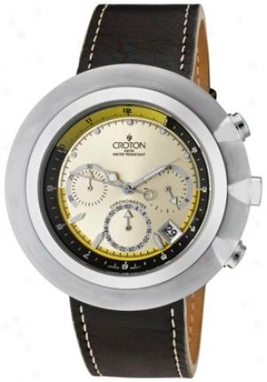 Croton Men's Black Strap Chronograph Cc311324bsch