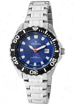 Croton Women's Aquamatic Stainless Steel Ca201228ssbl