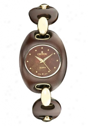 Croton Women's Brown Dial Maple Wood Cn2073066brmp
