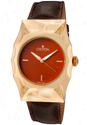 Croton WomenΫs Pumpkin Crown, Lizard Strap Cn207233brrd