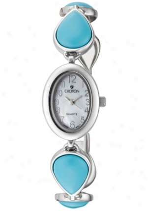 Croton Women's Silver And Turquoise Cn207060tqm