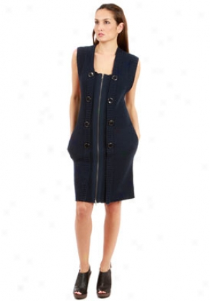 Development Navy Blue Wool Dress Dr-0097036-m