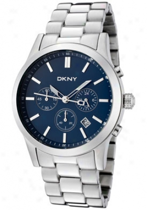 Dkny Men's Chronograph Blue Dial Stainless Steel Ny1466