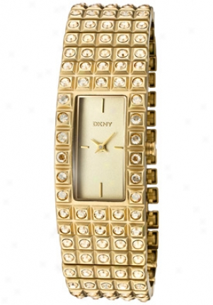 Dkny Women's Gold Crystal Gold Dial Ny8245