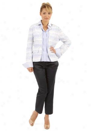 Dolce & Gabbana White & LightB lue Patch Shirt Wtp-f2392-fb6az-wb-46