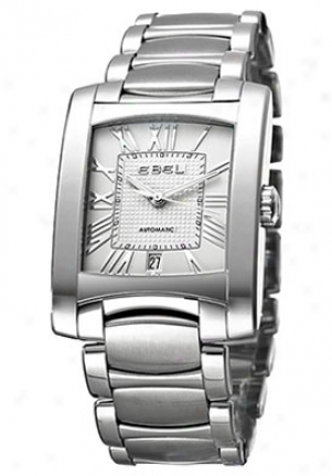 Ebel Brasilia Silver Dial Sttainless Steel Men's 9120m41/62500