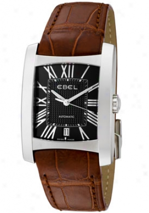 Ebel Men's Brasilia Mourning Textured Dial Brown Leather 9120m41/5235134