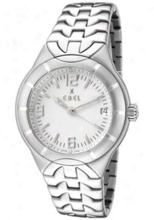 Ebel Men's Type E White Dial Stainless Steel 9187c41-0716