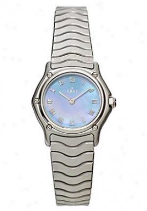 Ebel Sport Classic Mini Women's Stainless Steel Grey Mother-of-pearl Dkal 9157111/9325