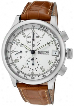 Eberhard & Co. Men's Chrono Tarversetolo Automatic Chronograph Brown Alligator Mte31051-1str
