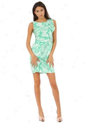 Ellen Tracy Green Ruffle Sheath Dress Ed1mc318-grn-14
