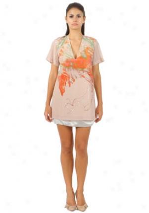 Emilio Pucci Silver Silk Skirt Wbt-87rv90-87605-44