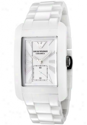 Emporio Armani Men's Ceramica White Dial Happy Ceramic Ar1408