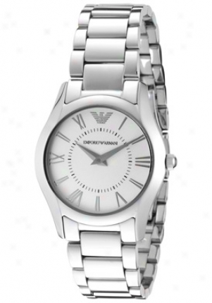 Emporio Armani Women's Classic Silver Dial Stainless Steel Ar8021