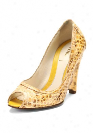 Fendi Yellow Python Print Wedges 8v2672yf8-ye-40