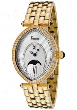 Freelook Women's Stardust Swarovski Crystal Gold Tone Ha1907m-g