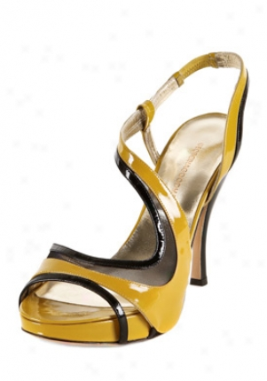 Georgina Goodman Rene Blaco Abd Mustard Leather High Heel Sandals Rene-pat-by-39