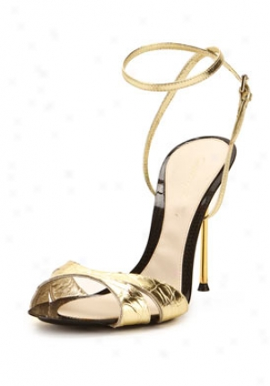 Gianvito Rossi Gold High Heel Sandals Gc1553-gold-36